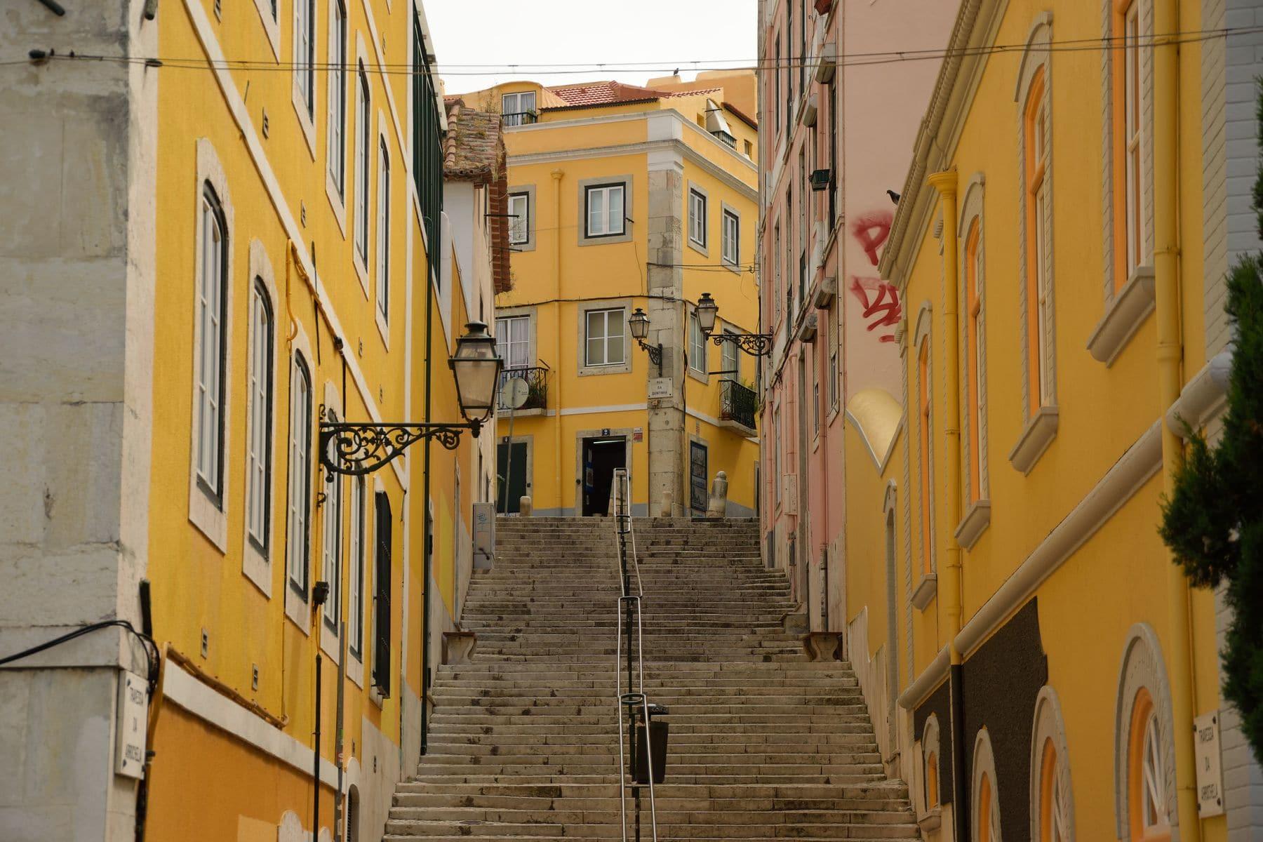 Strade ripide a Lisbona
