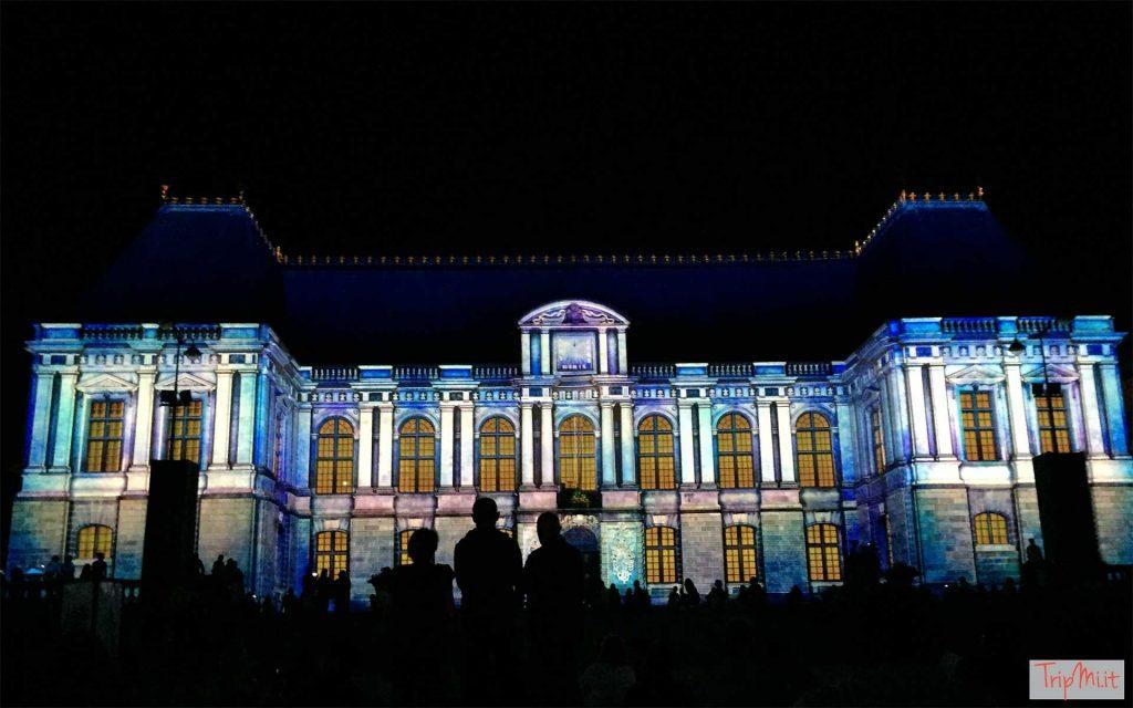 Il videomapping sul Palazzo del Parlamento di Rennes