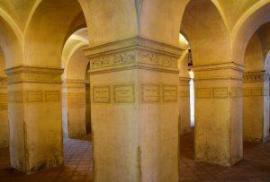 La cripta del tempio di San Sebastiano Mantova