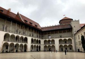 Il cortile interno del Castello di Wawel
