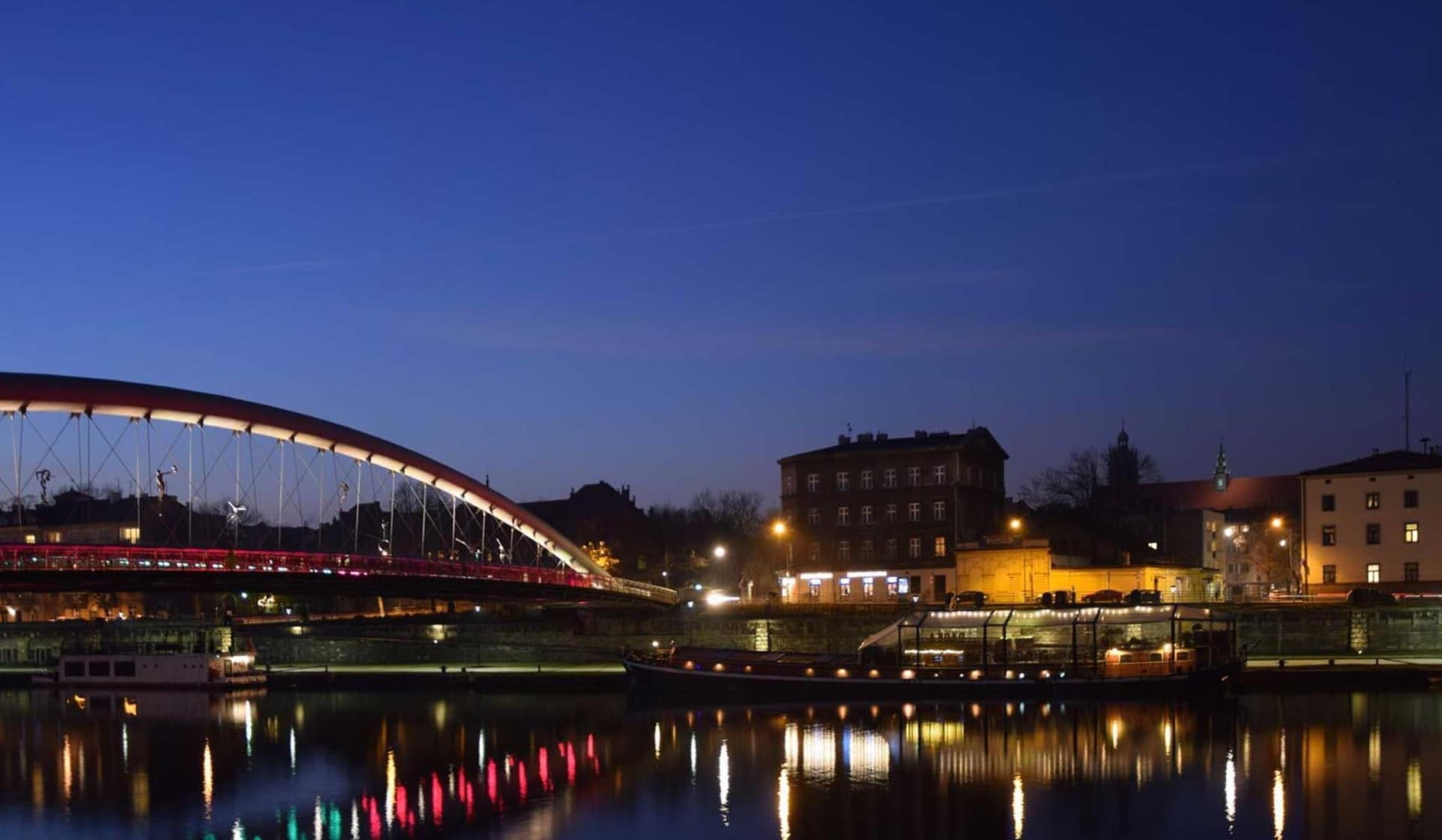 Un ponte sulla Vistola tra Kazimierz e Podgorze