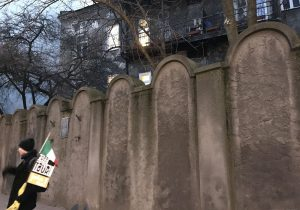 Il muro del Ghetto a Cracovia