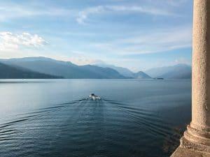 Vista sulla sponda piemontese del Lago Maggiore