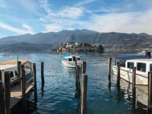 I battelli per l'isola di San Giulio
