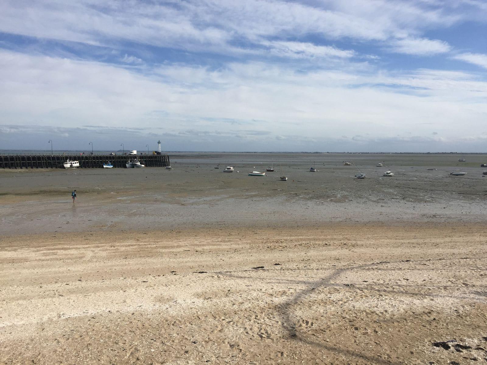 Bassa marea a Cancale in Bretagna