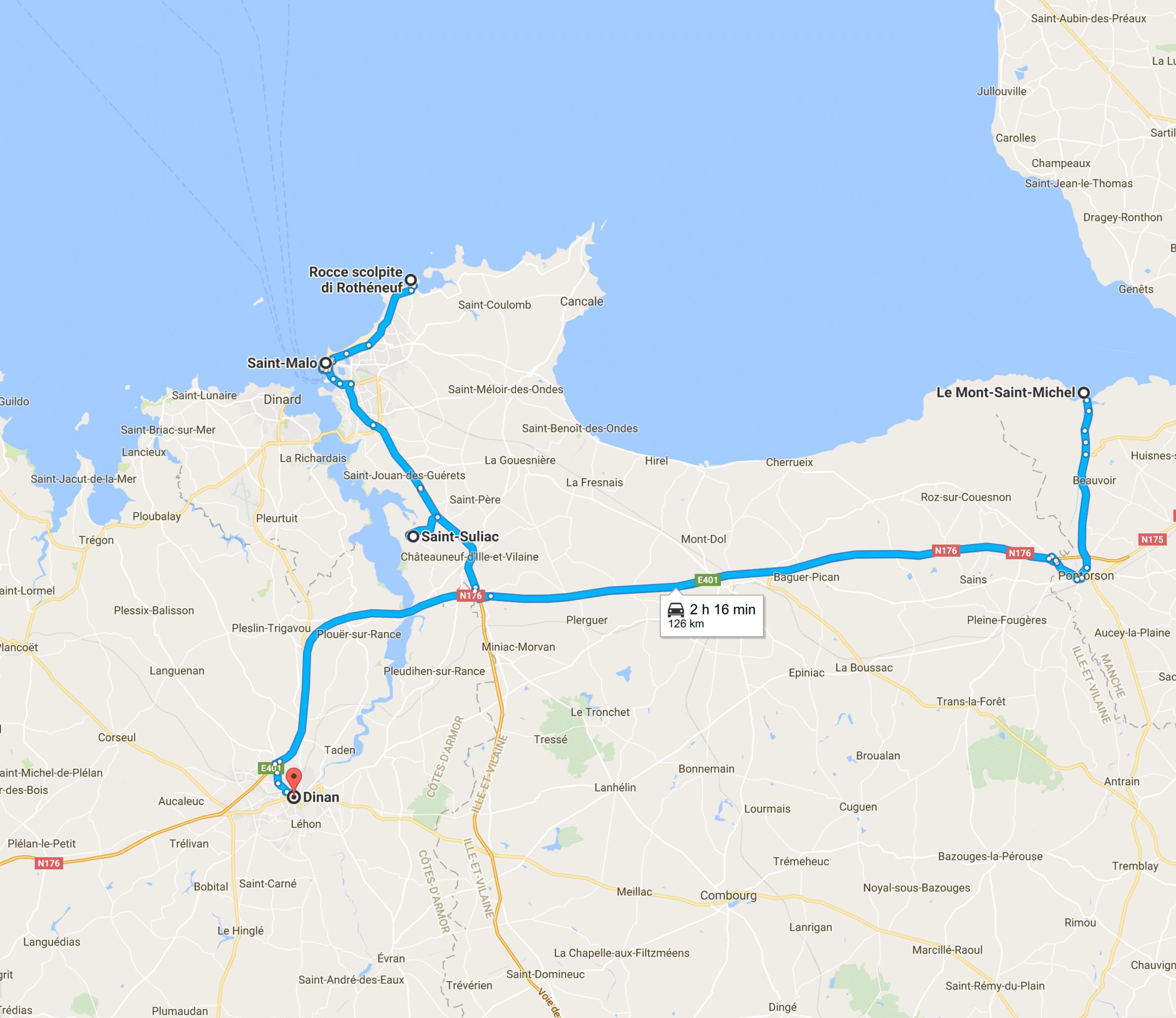 Itinerario sulla Côte d'Emeraude: da Saint Malo a Mont Saint Michel