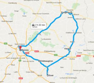 itinerario nell'Ille-et-Vilaine