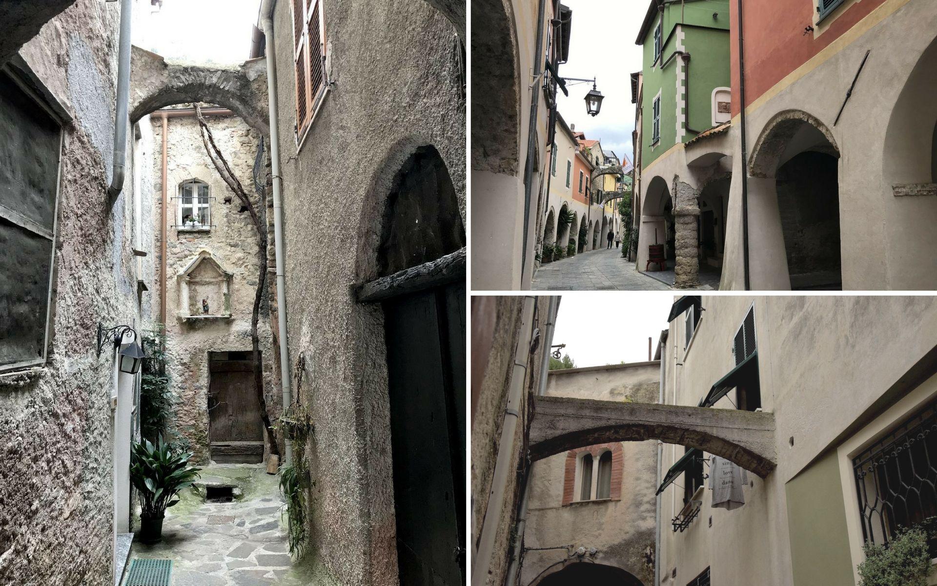 Per le strade di Zuccarello in Liguria