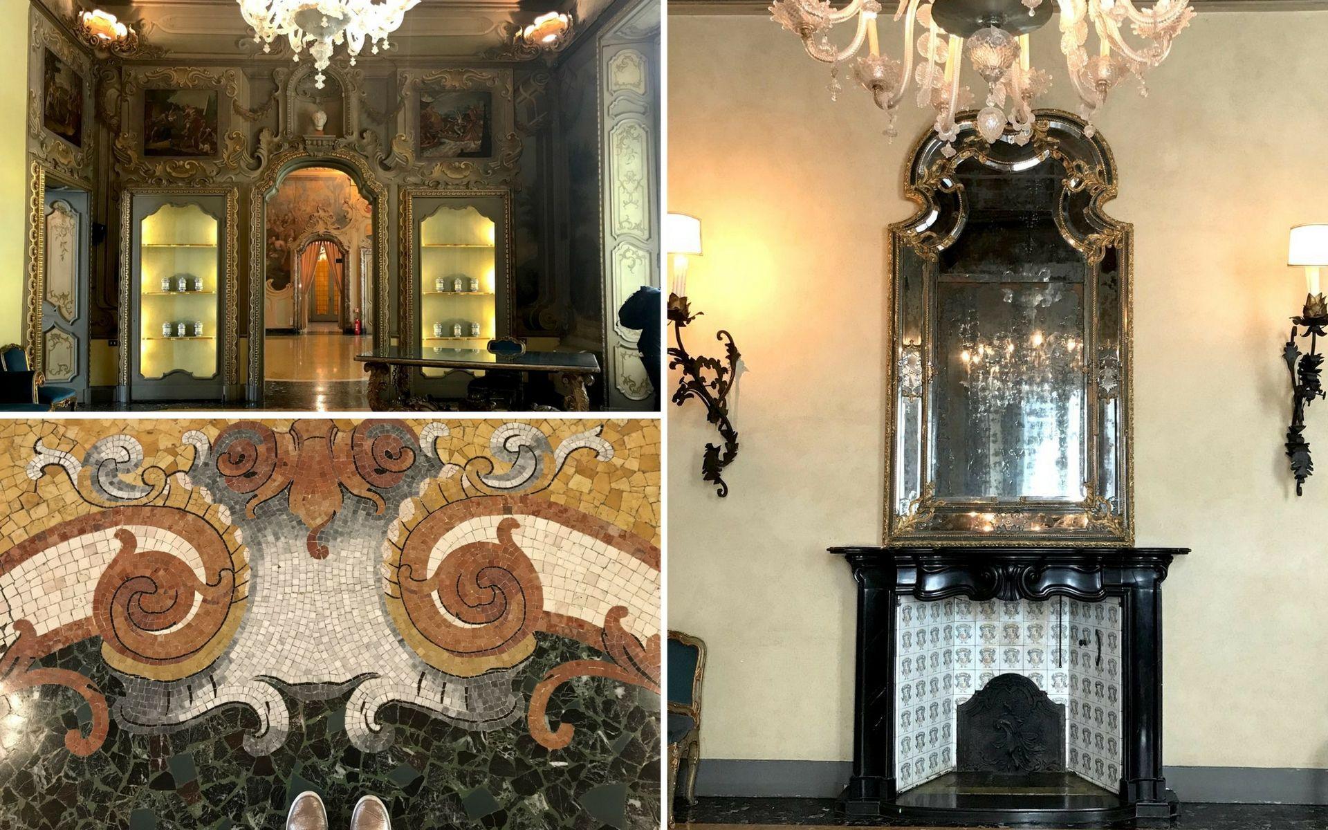 Gli interni di Palazzo Visconti