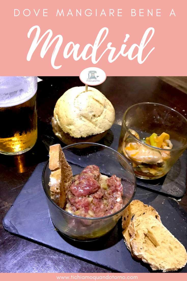 Dalla colazione alla cena, ecco una lista di 10 locali dove mangiare a Madrid da provare assolutamente!  #madrid #dovemangiare #tapas #tapear #wheretoeat #spagna #consiglidiviaggio #travelblogger
