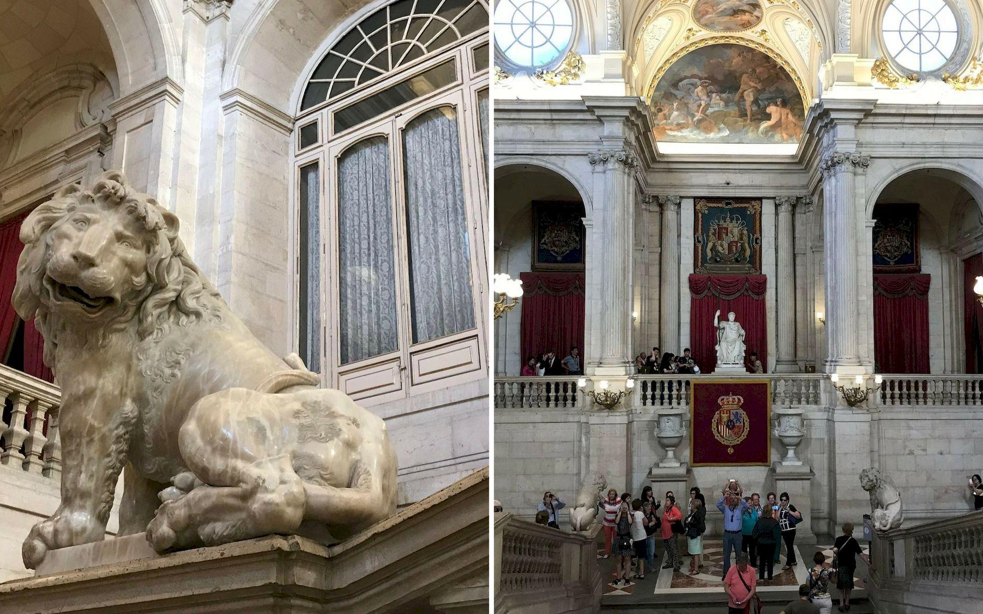 Lo scalone del Palazzo Reale