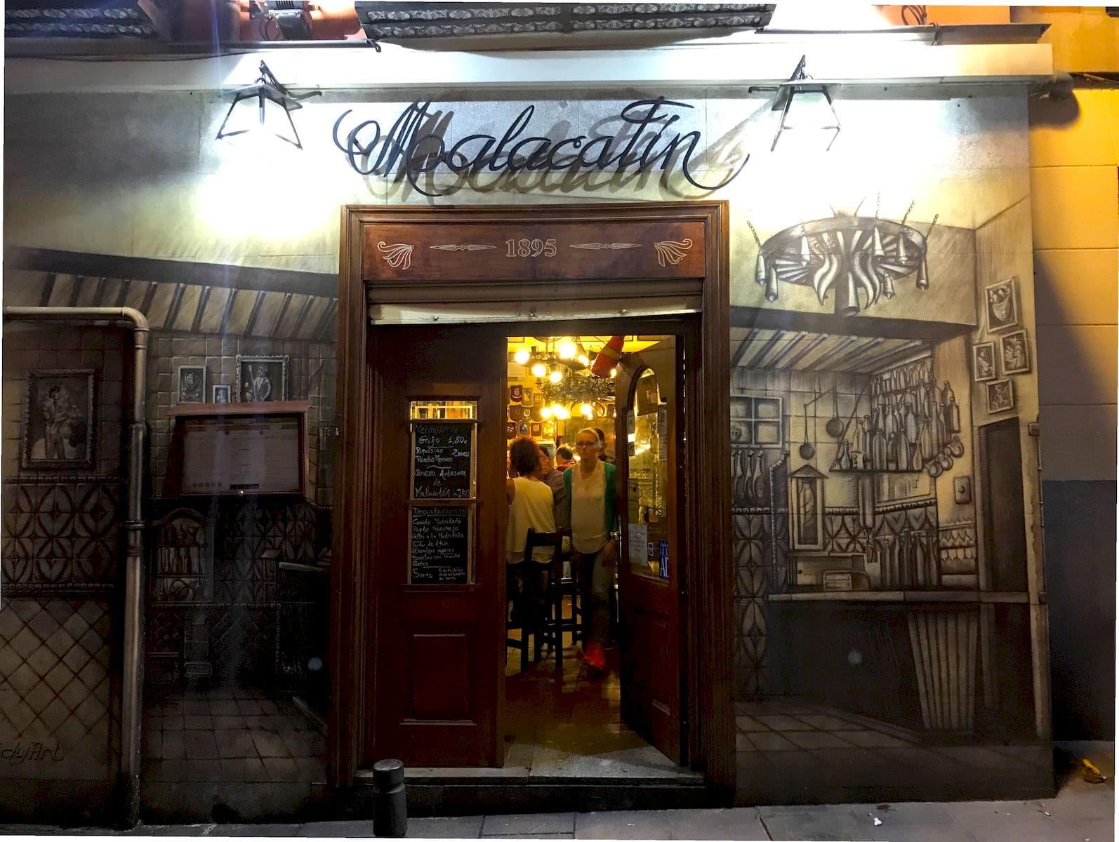 L'esterno del ristorante Malacatin