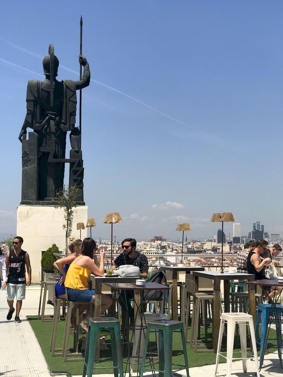 La terrazza del Circolo di Belle Arti Madrid