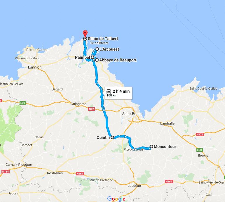 Itinerario sulla Côte d'Emeraude