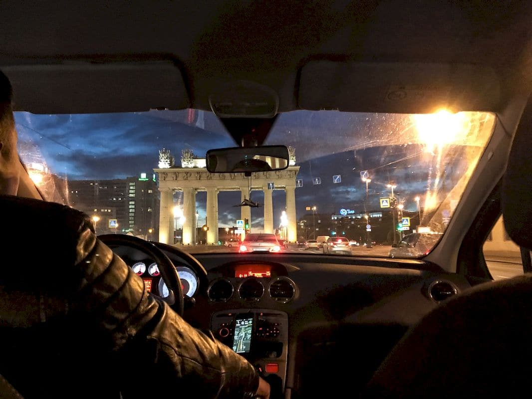 In taxi a San Pietroburgo