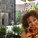 Mangiando Bretzel a Norimberga