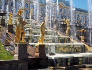 Le fontane di Peterhof san pietroburgo