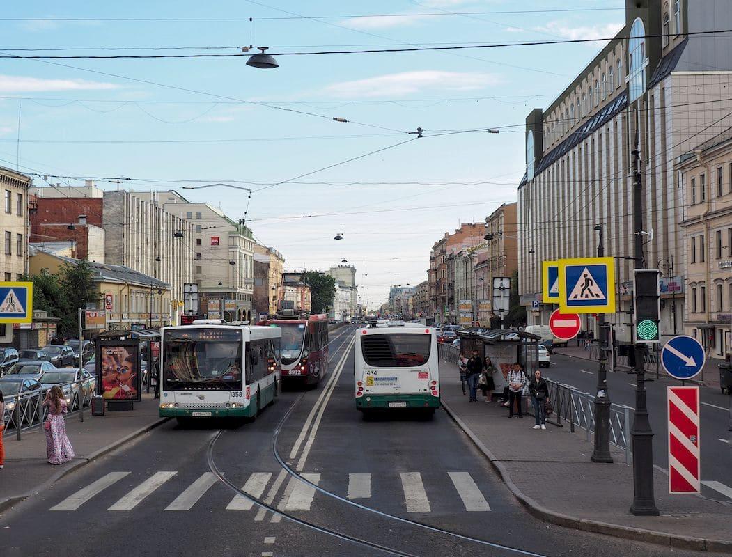 Autobus a San Pietroburgo