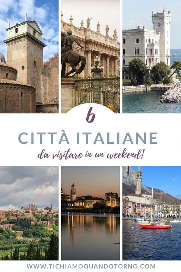 Cercate delle belle città italiane da visitare in un weekend? Ecco sei proposte, sei concentrati di bellezza da gustare in due soli giorni!  #italia #città #weekend #viaggio