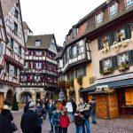 Il centro di Colmar in Alsazia