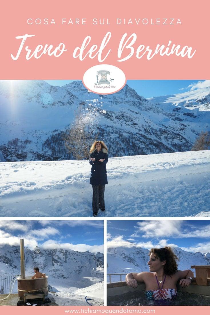 Un'idromassaggio a 3.000 metri d'altitudine è un'idea perfetta per un weekend romantico e un'esperienza indimenticabile   #engadina #svizzera #idromassaggio #weekendromantico #inverno #montagna #diavolezza #bernina #jacuzzi #trenobernina