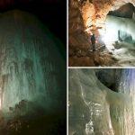 Le formazioni di ghiaccio delle Grotte Eisriesenwelt