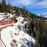 Treno del Bernina: il trenino entra in galleria