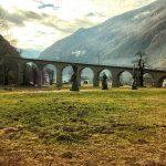 Trenino rosso del Bernina: il viadotto di Brusio