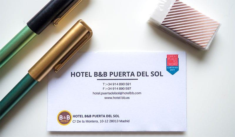 Dove dormire a Madrid: B&B Hotel Puerta del Sol | Ti chiamo quando torno
