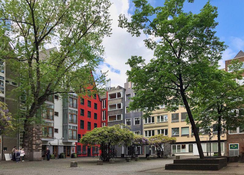 Le case colorate di Colonia