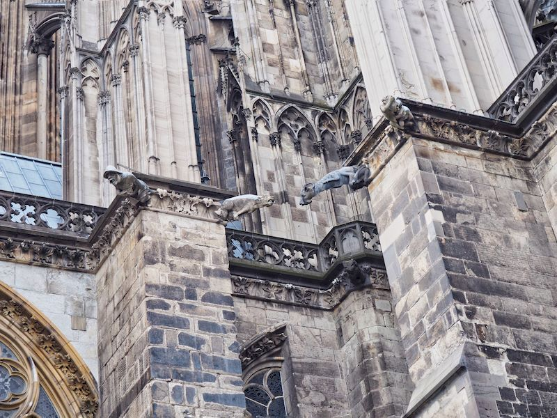 Le gargolle della cattedrale di Colonia