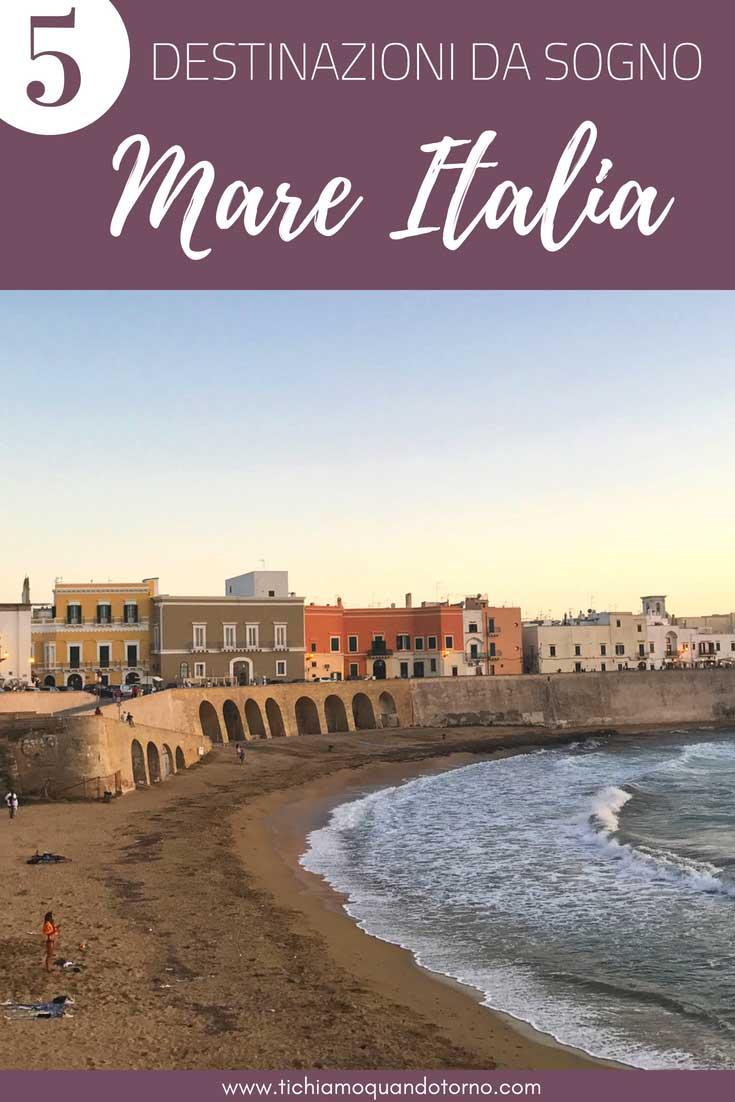 Voglia di sole, spiaggia e mare? Ecco 5 destinazioni dove trascorrere le prossime vacanze al mare in Italia, tra spiagge chiare e mare cristallino! #vacanze #mare #italia #sardegna #salento #sicilia #campania #costieramalfitana #scopello #olbia #gallipoli #puglia #ideevacanze #estate #dovendare #spiaggia