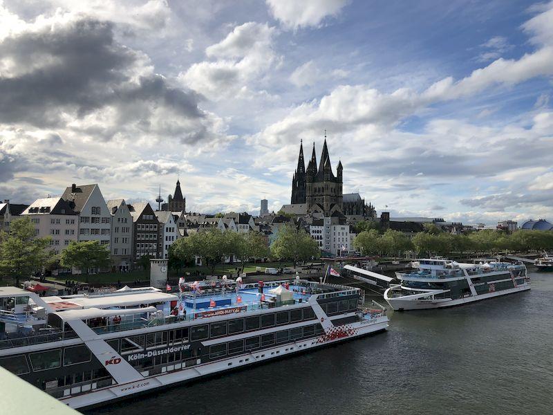 Vista di Colonia dal Deutzer Brüke