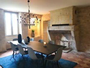 La sala da pranzo del B&B Chez Henri