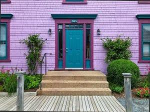 Porte colorate a Mahone Bay