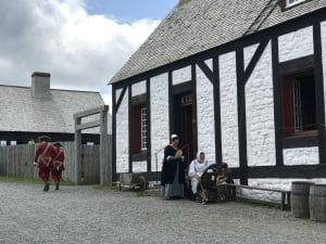 Comparse in costume la fortezza di Louisbourg