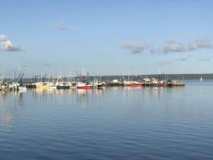 Il porto di Digby al tramonto