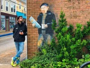 Street art a Lunenburg
