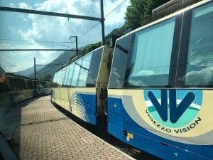 I vagoni panoramici del treno del foliage