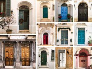 Porte colorate a Malta