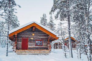 Una baita del Kakslauttanen Arctic Resort