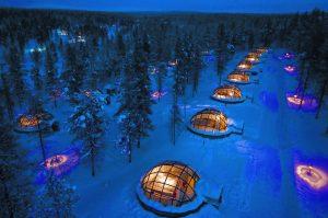 Gli igloo di vetro del Kakslauttanen Arctic Resort