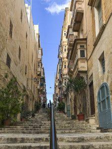 Salite e discese a Valletta