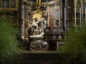 Particolare dell'altare della Co-Cattedrale di San Giovanni a Valletta