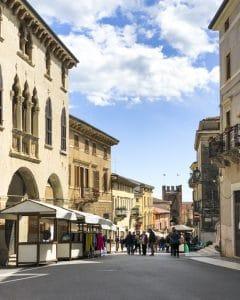 La via del centro storico di Soave