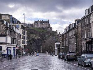 Vista sul castello e la Old Town