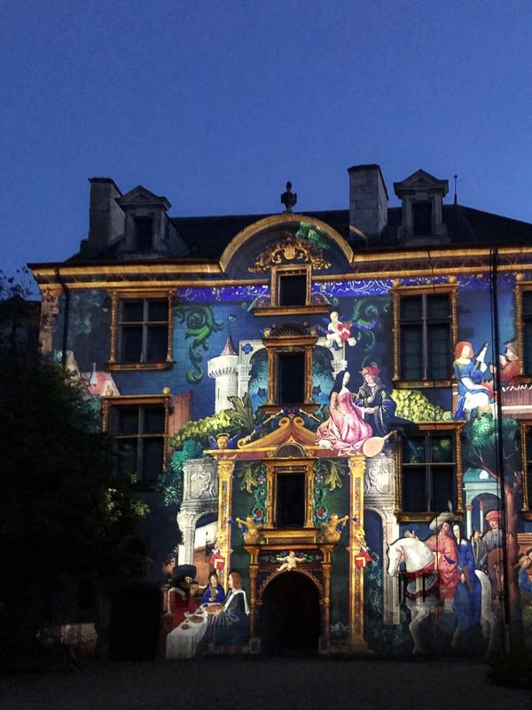 Spettacolo di luci a Bourges