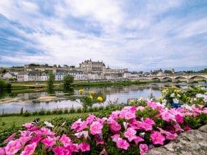 Vista su Amboise dalla Loira