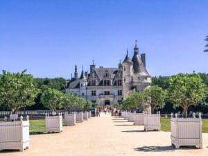 L'ingresso del Castello di Chenonceau