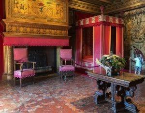 Una delle stanze del Castello di Chenonceau